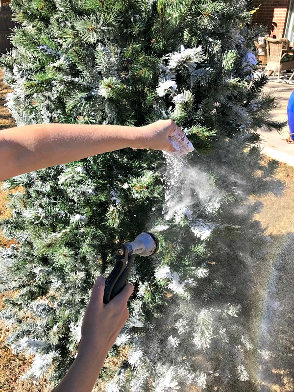 Flocking Christmas Trees Spray
