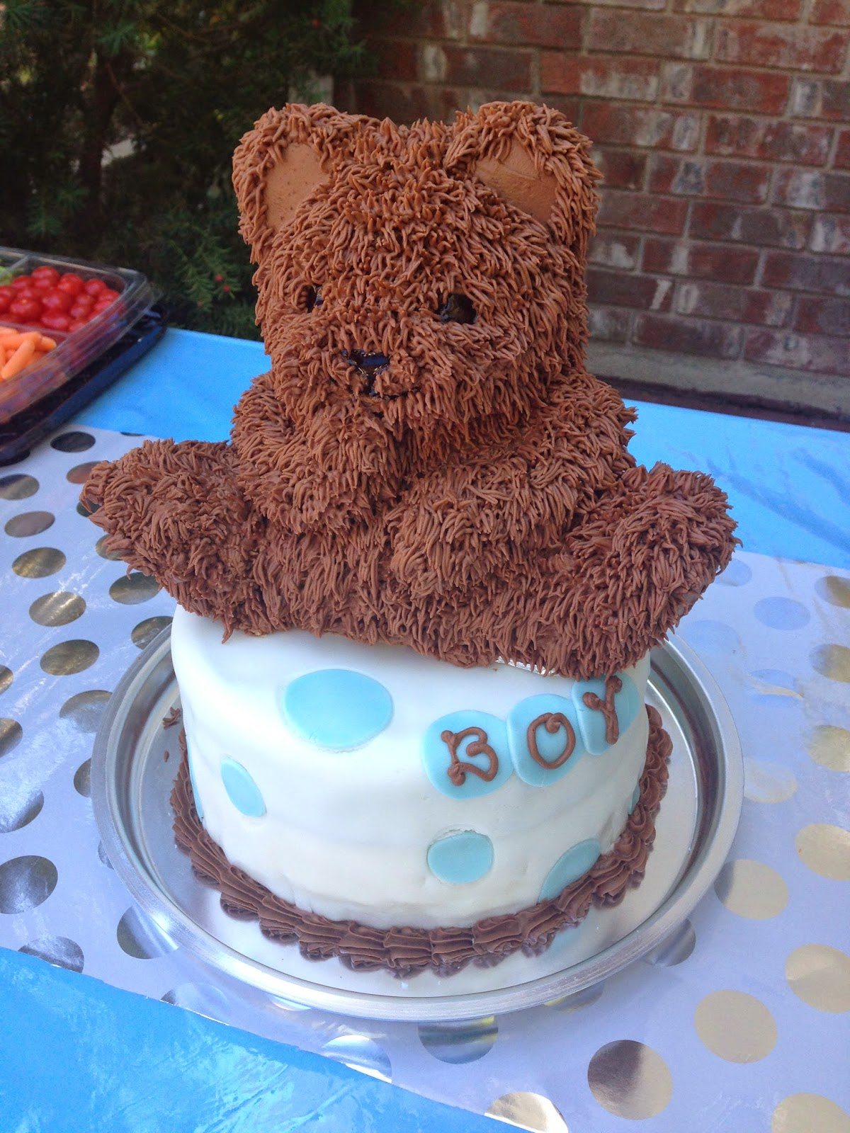 The Cake Cow Chocolate Bear On A Round For A Boy