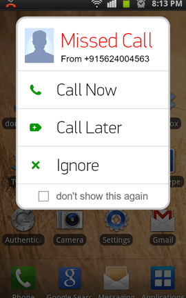 Missed Call Reminder apps