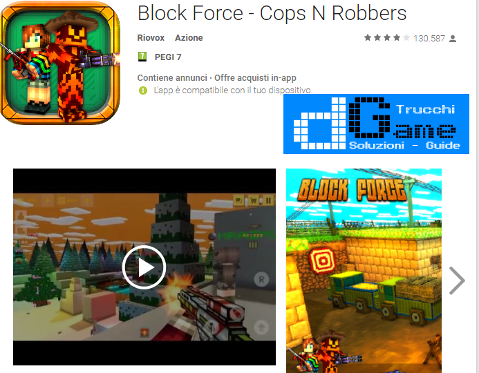 Trucchi Block Force – Cops N Robbers Mod Apk Android v4.1.3