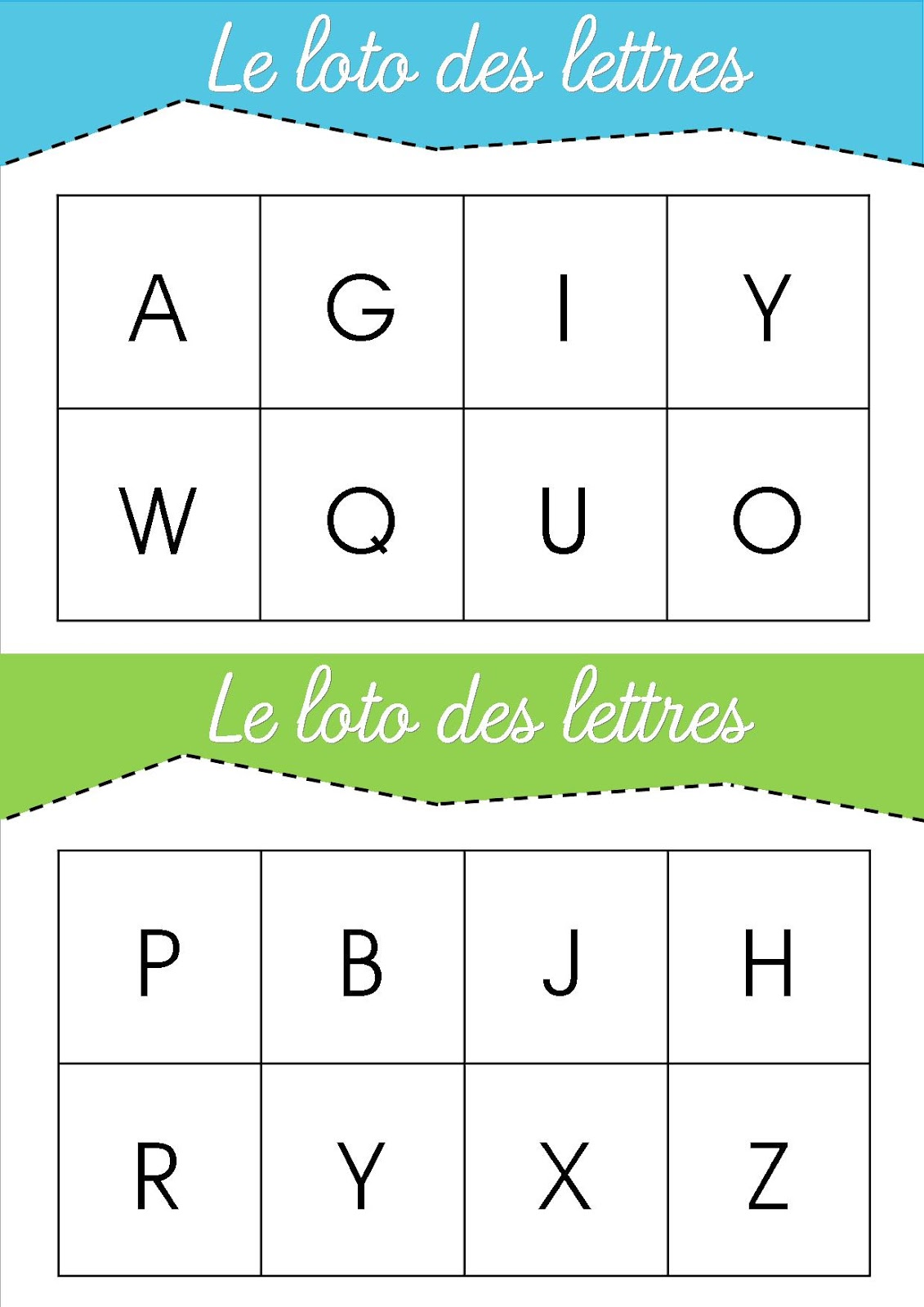 la maternelle de laur u00e8ne  le loto des lettres