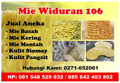 Usaha Mie Widuran 106