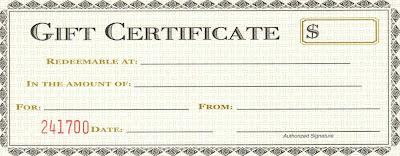 Fake Gift Certificate Templates Nhawe