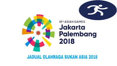 Jadual Olahraga Malaysia Sukan Asia 2018