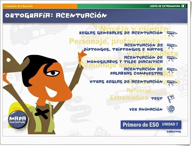 """""""Ortografía: Acentuación"""" (Aplicación interactiva de Lengua Española)"""
