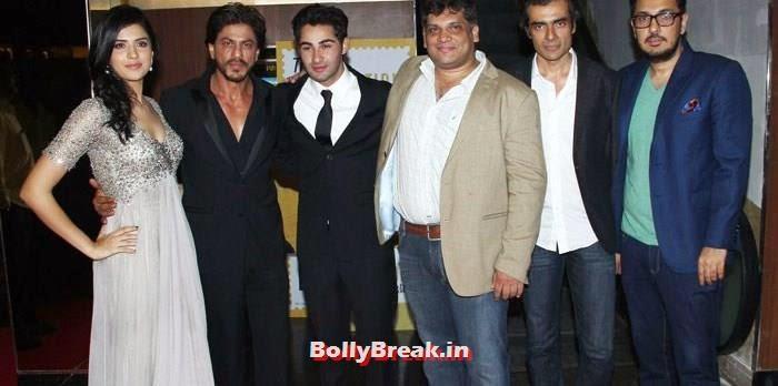 Deeksha Seth, Shah Rukh Khan, Armaan Jain, Arif Ali, Imtiaz Ali, Dinesh Vijan