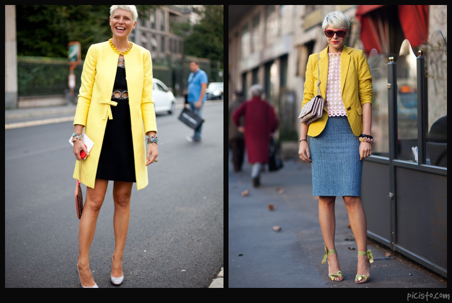 Elisa Nalin Wearing Yellow