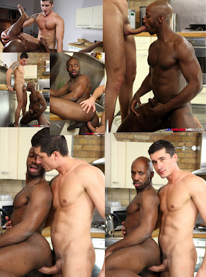 sexo gay dotados Interracial Big Cock - Jay Rovberts fucks Race Cooper