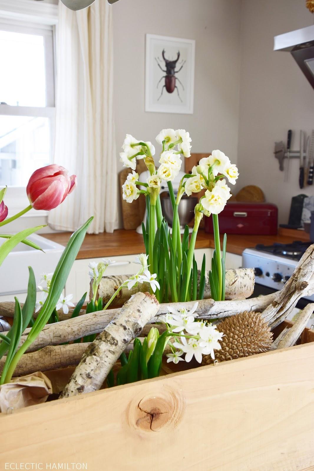 Dekoidee: Kiste voller Blumen! Frisch. schön und die perfekte mobile Deko