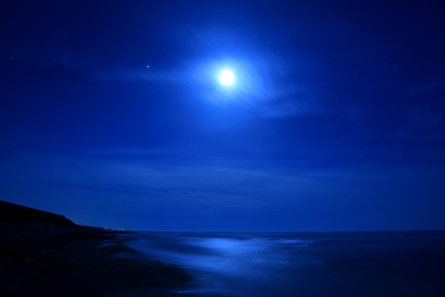 石川県で撮影した月光写真