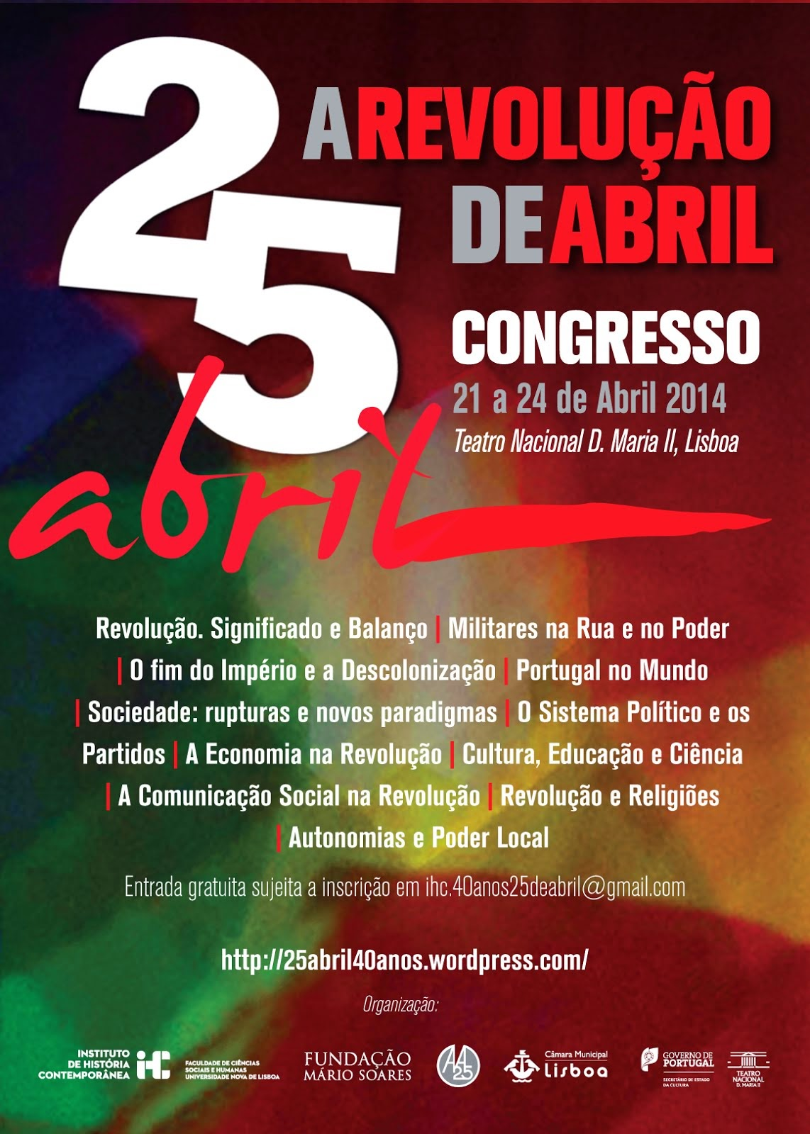 25 de  Abril Congresso