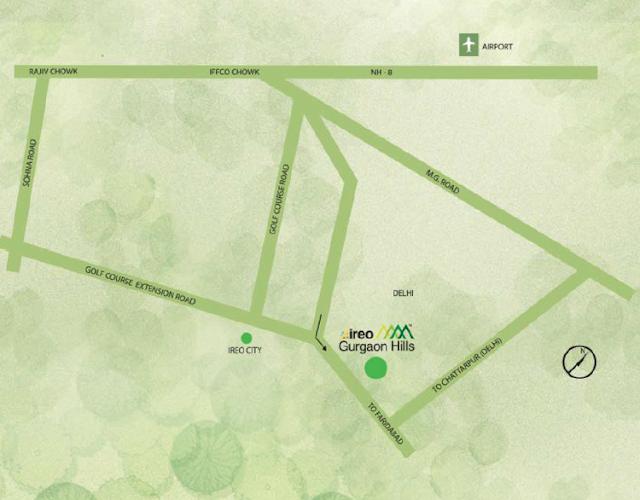 Location map - Ireo Gurgaon Hills