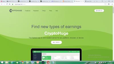 Cara Mendapatkan Uang 100$ dengan cryptohuge dalam 1 menit