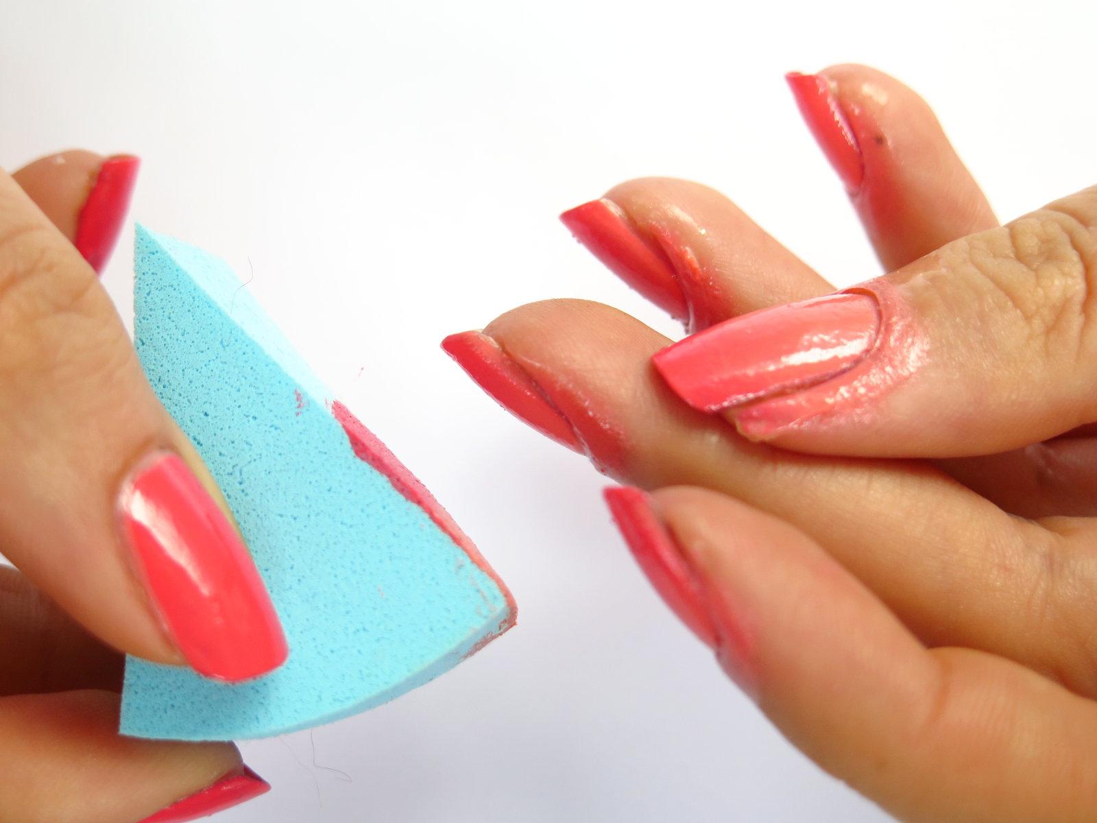 jak zrobić gradient wskazówki porady instrukcja na paznokciach ombre