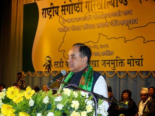 Subramanian Swamy Former cabinet minister and BJP leader at gorkhaland seminar darjeeling