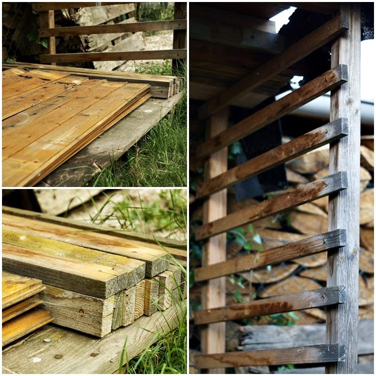 Holzunterstand und Material für DIY { by it's me! }