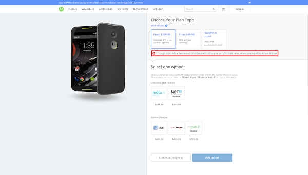 Motorola Moto X purchase on Moto Maker gets you free Motorola Moto E