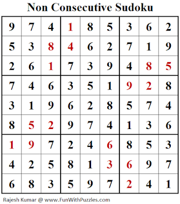 Non Consecutive Sudoku (Daily Sudoku League #204) Solution