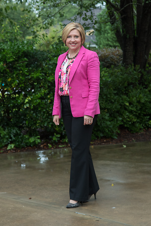 workwear wednesday, hot pink blazer