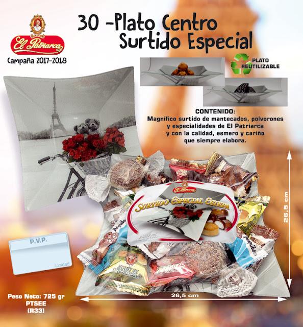 Plato centro París Surtido Especial Estepa El Patriarca 750 g - Comercial H. Martín sa