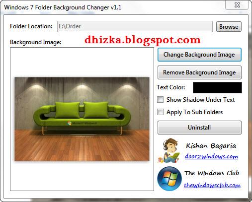 Madison : Windows 7 folder background changer v1 1 free download