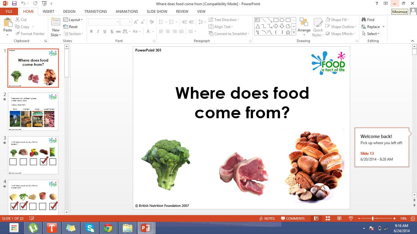 Ppt Presentation Where Does Food Come From