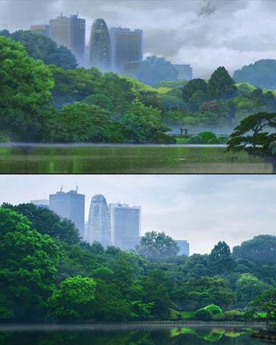 47 gambar Anime pemandangan alam