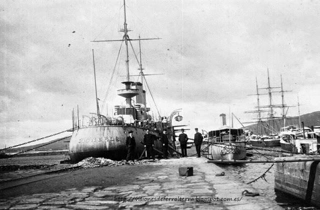 Crucero Cardenal Cisneros 1905.