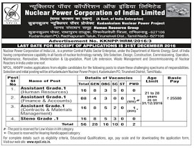 Nuclear Power Corporation recruitment