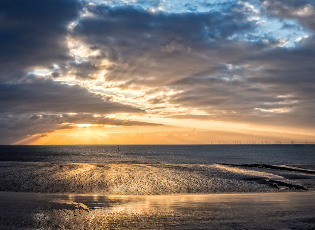 Another shot of the sunset from the shore at Maryport