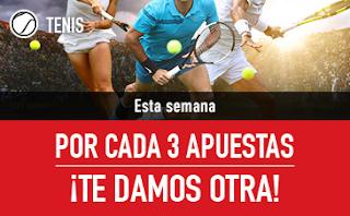 sportium Promo Tenis: Cada 3 te damos 1 24-30 septiembre