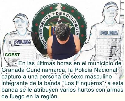 """Capturado integrante de la banda """"los finqueros"""" quienes delinquían en la región del Sumapaz."""