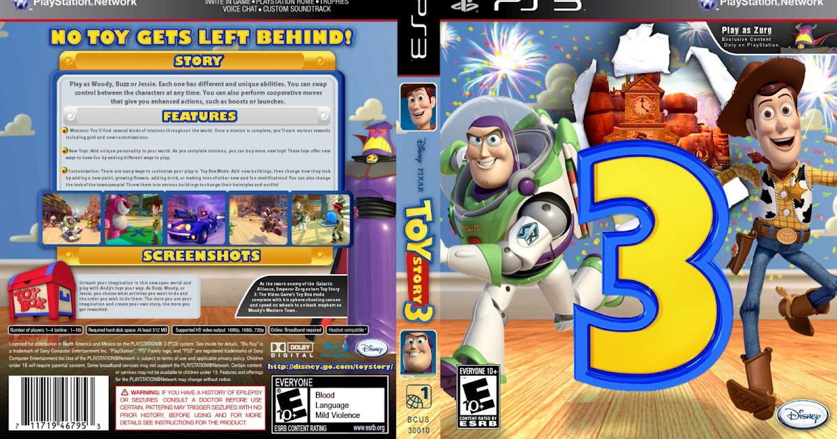 Games Gamers Toy Story 3 Ps3 Download