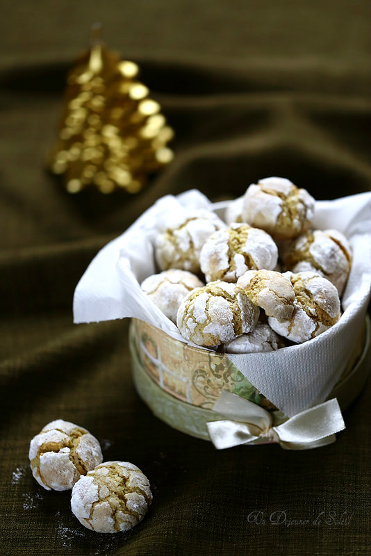 Biscuits craquelés et moelleux au citron