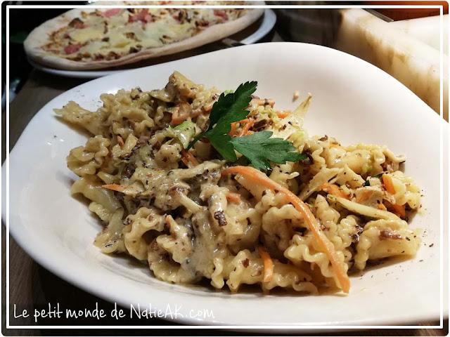 Recette de fête Vapiano/Perce-Neige : pâtes morilles et fois gras