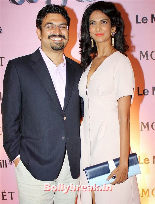 Poorna Jagannathan along with her husband Azad Oommen, Celebs at Moet and Chandon Valentines Day Celebrations