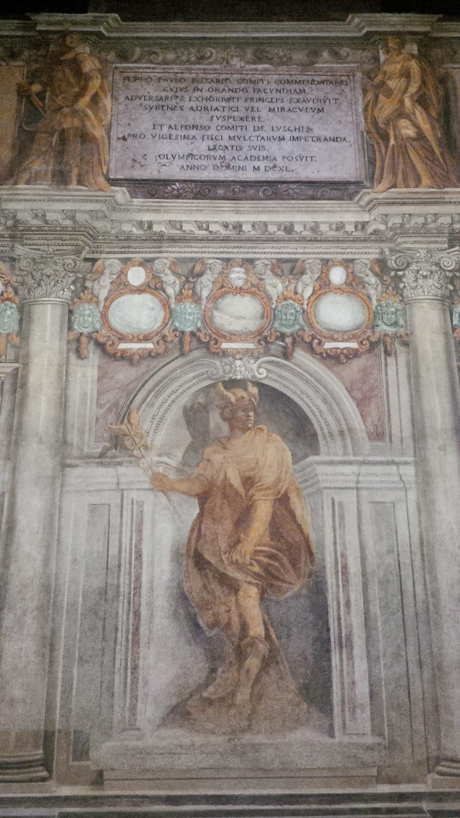 The antechamber of Teatro Olimpico in Vicenza