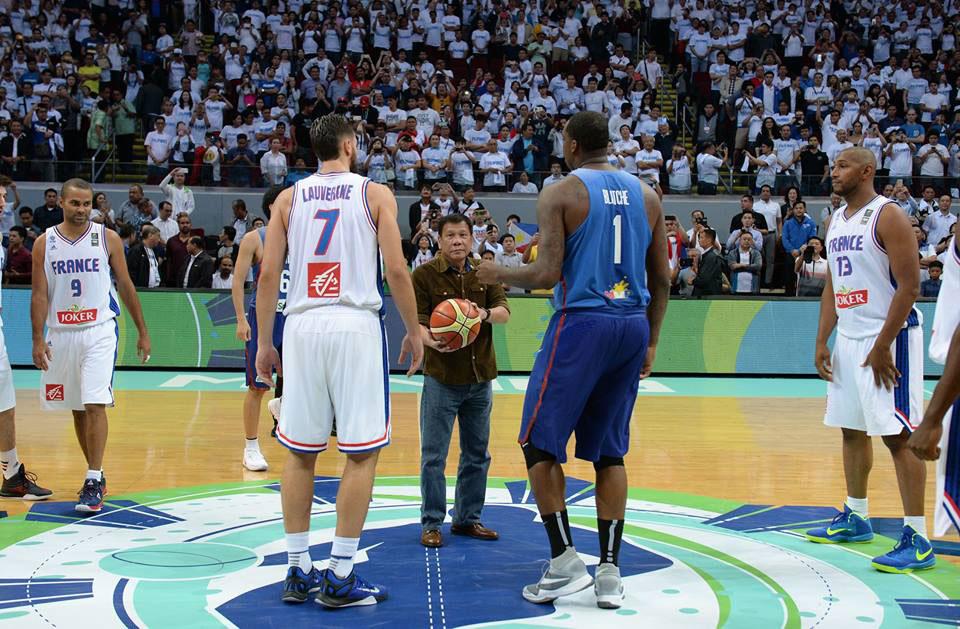 President Rody Duterte 2016 FIBA Olympic Photo 02-07-05-2016
