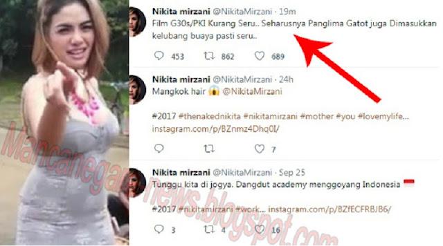 """PARAH! Nikita Mirzani : """"Film G30s/PKI Kurang Seru, Harusnya Panglima Gatot Juga Dimasukkan.."""""""