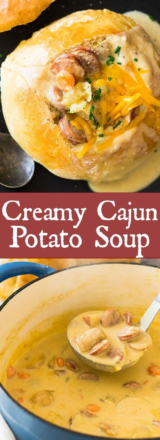 Creamy Cajun Potato Soup