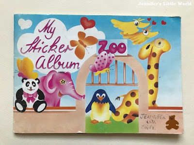 Vintage 90s child sticker album