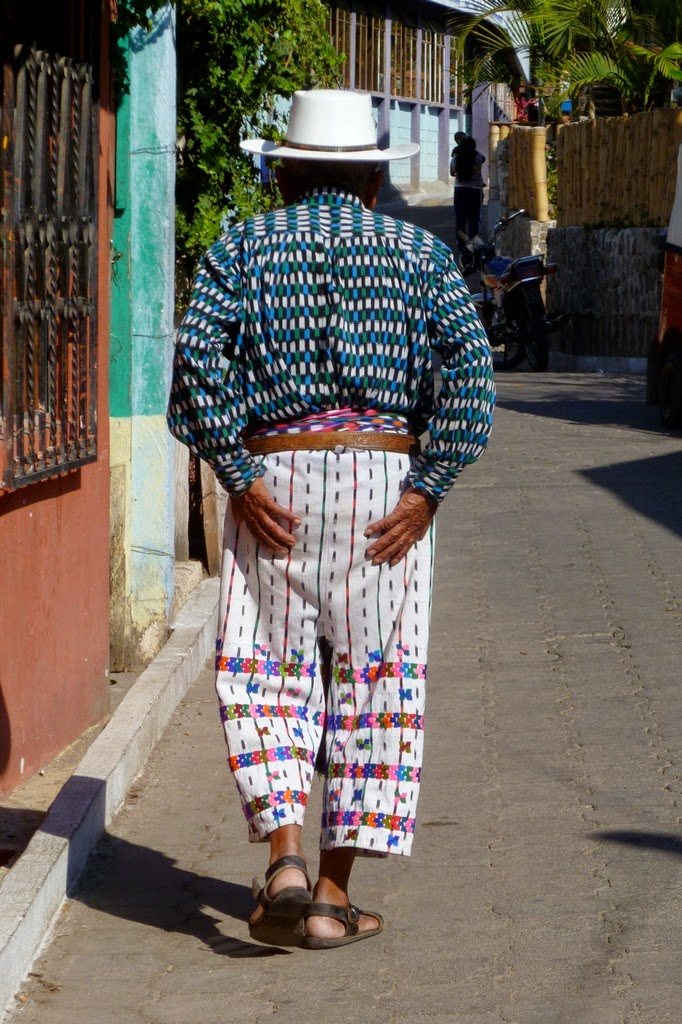 Guatemala man in traditional embroidered pants