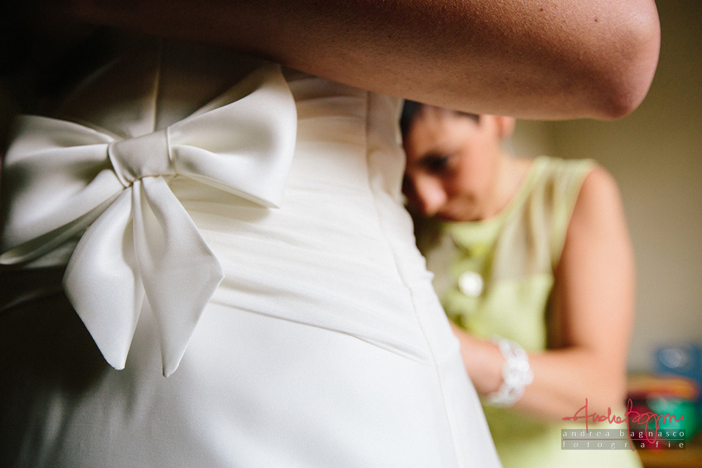dettaglio abito sposa foto matrimonio
