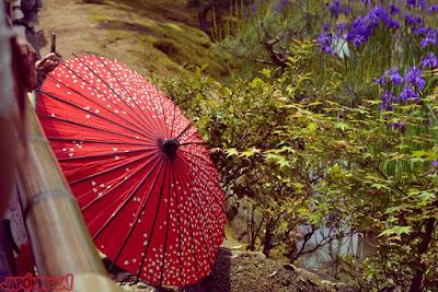Detalle de sombrilla en el KinkakuJi