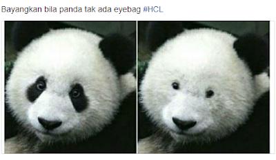 Bayangkan Bila Panda Tak Ada Eyebag .....