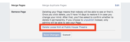 Delete A Page From Facebook<br/>