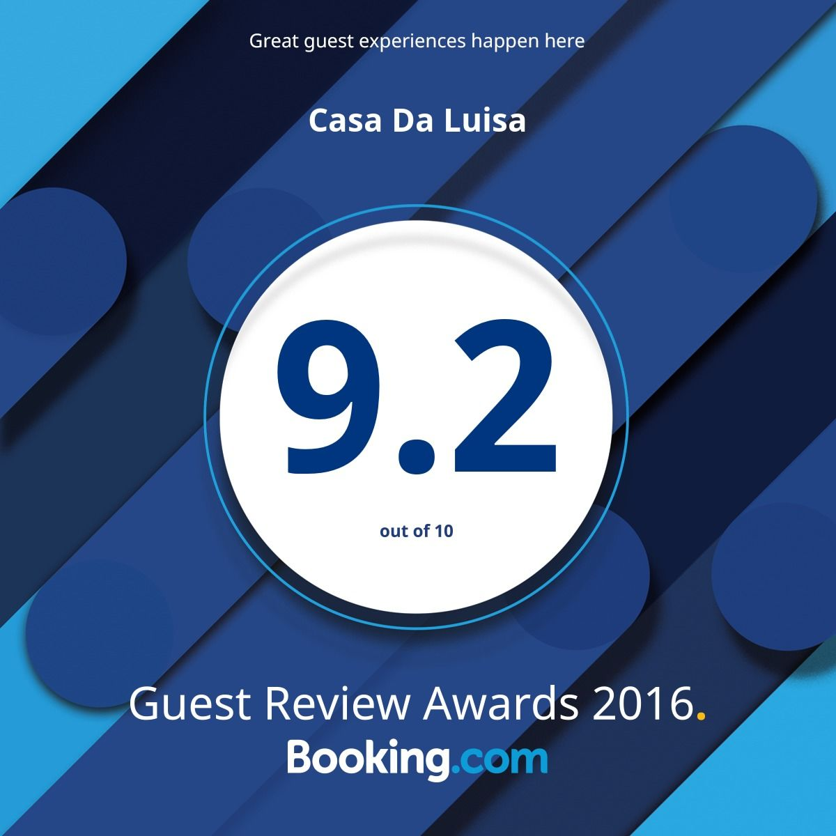 Booking.com Guest Awards 2016 #guestsloveus