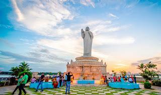 Gautam Budhha Statue-Hussain Sagar Lake