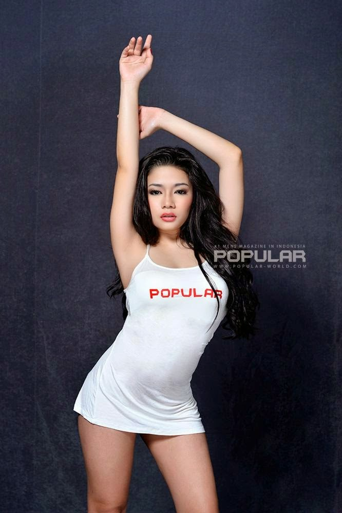 Punky Permata at Popular World Magazine BFN 2014