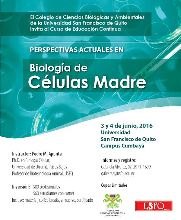 """Curso Teórico: """"Perspectivas actuales en biología de células madre"""""""